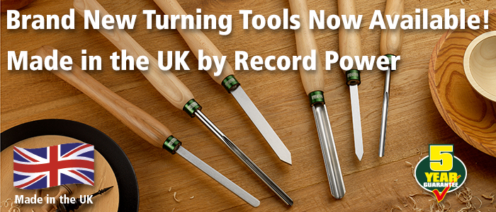 Brand New UK-Made Turning Tools from Record Power
