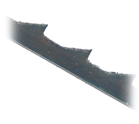 SSB-NF0820 Pack of 12 Skip Tooth Plain End HSS 20 TPI Scroll Saw Blades