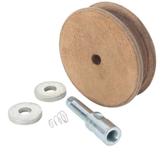 WG250/N Profiled Leather Honing Wheel