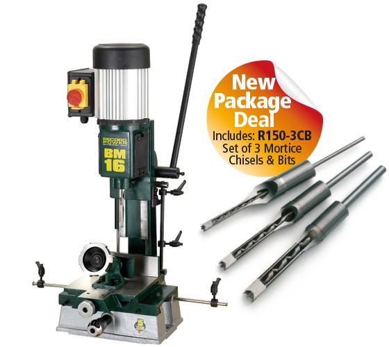 BM16-PK/A BM16 Sliding Table Morticer Package Deal