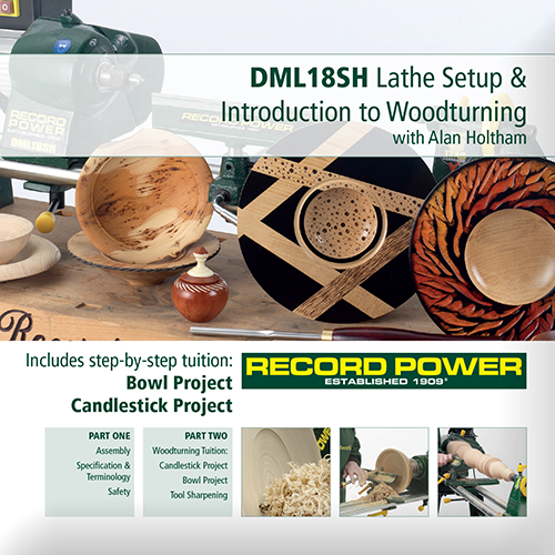 RPDVD11 DML18SH Lathe Set Up And Introduction To Woodturning DVD