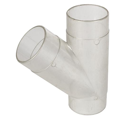 CVA250-50-104 2.5 Inch Clear Plastic Y Fitting
