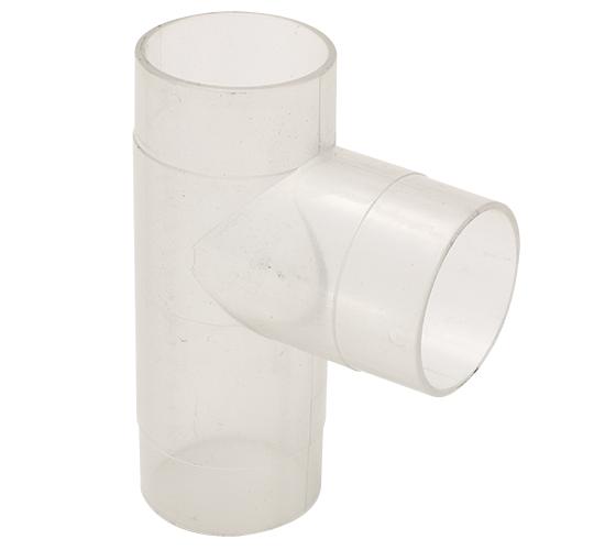 CVA250-50-105 2.5 Inch Clear Plastic T Fitting