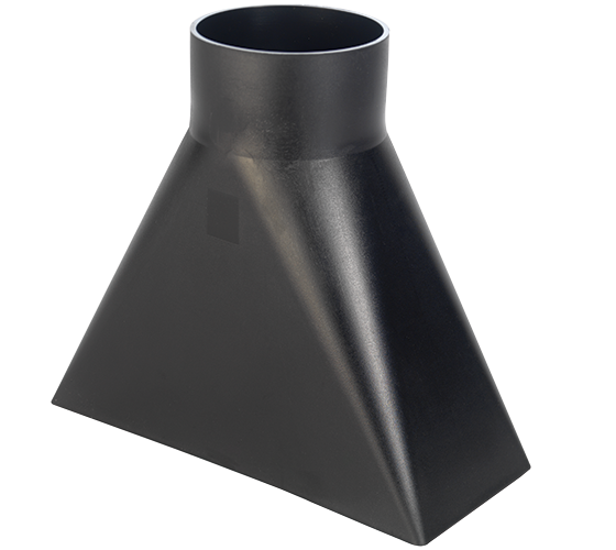 CVA400-50-122 4 Inch Dust Hood (10 Inch Nozzle)