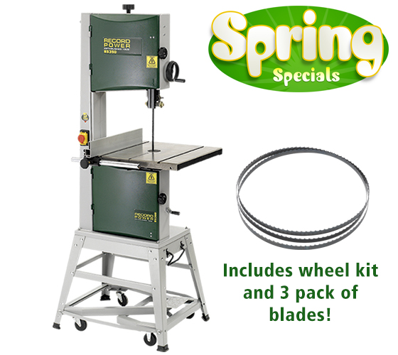 BS350S-PK/A BS350S Package with Wheel Kit and 3 Pack of Blades